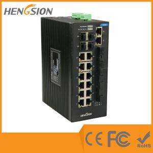 China Gigabit 28 Port Switch 14 100 Base TX + 4 100 Base FX + 4 * 1000 Base SFP Fiber Optic Switch wholesale