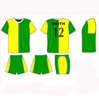 Adult sublimated soccer jersey and shorts cool max football teamwear