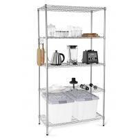China H173 Simple Design Metal Display Shelf Carbon Steel Beautifully Silver - Finished wholesale