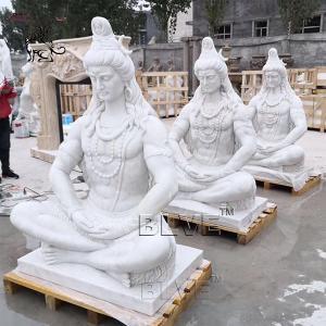 China Large Marble Lord Shiva Statue Garden Life Size India God Buddha Sculpture wholesale