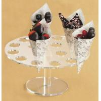 China Desk Shape Acrylic Ice Cream Cone Display With High Quality wholesale