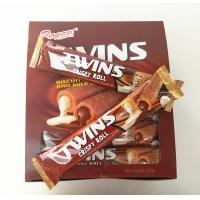 China Twins Crispy Roll Buscuits With Chocolate And Milk Center / Sandwich Biscuit wholesale