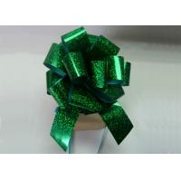"China Holographic Green Fushia Pom Pom bow 4"" dia 250mm width for gift promotion wholesale"