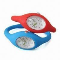 Quality Silicone Analog Wristwatch with Japan Quartz Movement, Leisure Design, OEM Order for sale