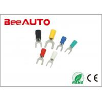 China 0.5 - 6mm² Tin Plated Fork Terminal Connectors , Lug Furcate 8 Awg Fork Terminal SVS1.25-3 wholesale