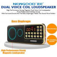 China Bluetooth radio led speaker with disco flashing lighting show wholesale