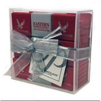 Quality Light weight Acrylic Display Case / Gift Case With Lid 10cm X 10cm X 4cm for sale