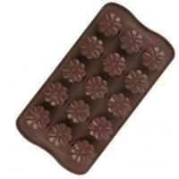 China Flower Hard Plastic Christmas Chocolate Moulds Food Safe Tasteless wholesale