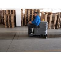 China Small Recharged Ride On Compact Floor Scrubber Machine For Medium Area Cleaning wholesale