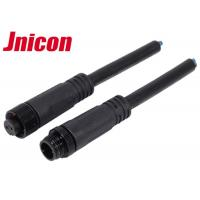 China Jnicon M12 Waterproof Wire Connectors , Waterproof 2 Pin Male Cable Connector wholesale