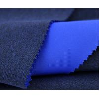 China Blue Microfiber Circular Knit Fabric Water Proofing 94% Polyester 6% Spandex on sale