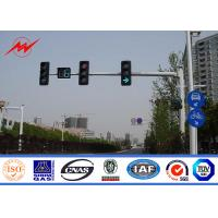 China 6.5m Height High Mast Poles / Road Lighting Pole For LED Traffic Signs , ISO9001 Standard on sale