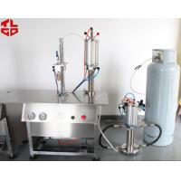 China Semi Automatic Aerosol Filling Machine For Perfume / Body Spray / Deodorant Sprays wholesale