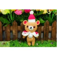 China many colors  35cm crochet cotton teddy bear  wholesale