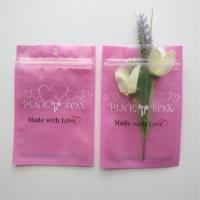 Resealable Cosmetic Packaging Bag Pink Eyelash Earrings Necklace Jewelry Zipper
