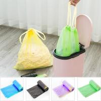 China Yellow String Colored Trash Bags , Can Liners Trash Bags Custom Printing wholesale