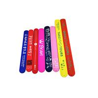 China Colorful Printing Silicone Slap Wristband Non Toxic Materials For Children Toys wholesale
