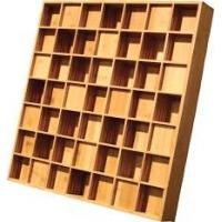 China Qrd Wood Wall Ppaneling / Acoustic Diffuser Panels Square Edge Treatment wholesale