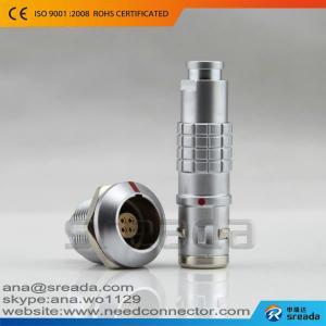 China Solder type waterproof IP68 substitute lemo connector 4 pin on sale