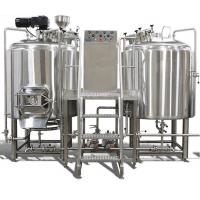 China 8 bbl  2Vessel Brewhouse Syatem For Brewpub Brewery Equipment With Mirro Polish Interior wholesale