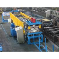 China Gutter Roll Forming Machine , Color Metal Roof Machine With Auto Stacker wholesale