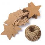 China Stars Shape Flexo Printing For Christmas Celebration Cardboard Gift Tags wholesale