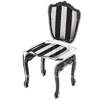 China Black / Red Modern Acrylic Furniture Baroque Chair With Screen Print wholesale