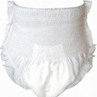 China Disposable Adult Pull-up Diaper, Flexible Waist, Soft, Breathable and Cloth, Wetness Indicator wholesale