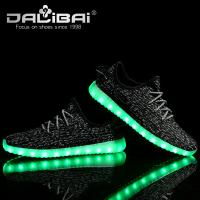 China Kids Adults Comfortable Sneaker LED Casual Shoes with Lights Rubber Outsole wholesale