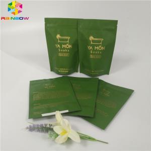 China Salts Foil Pouch Packaging Zipper Top Stand Up Ziplock Bath Salt Bag Aluminum Foil wholesale