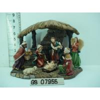 China Wood House Polyresin Religious Figurines Handmade For Nativity Set wholesale