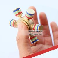 Quality NEW design high quality brass hand type fidget spinner Rotation Time Long Anti Stress for sale
