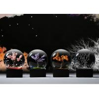 China Ball Shape Crystal Decoration Crafts Designed With Four Seasons Tree wholesale