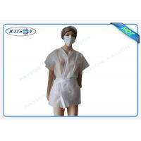 Quality 100% PP , SMS Non Woven Medical Fabric Sterile Disposable Surgical Gown Sauna for sale