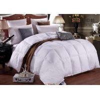 China Hotel Bedding White 50% Duck Down Duvet  And 250GSM 60S With Customize Size wholesale