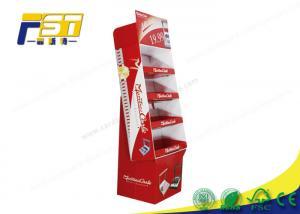 China Custom Retail Foldable POS Corrugated Cardboard Floor Display Rack wholesale