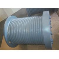 China Marine Hydraulic Winch Drum With Rope Groove、Rope Inlet、Rope Hold Down, Gray Steel Drum. wholesale