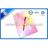 China Kraft recycled paper notebooks / A4 Pink Sewing Binding Notebook For School on sale
