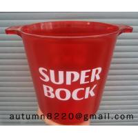 China red mini plastic clear ice bucket wholesale