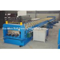 Quality Color Steel Plate Floor Deck Roof Panel Roll Forming Machine 1500mm , PLC Control for sale
