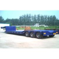 China 80 Tons Gooseneck Low Bed Semi Trailer For Construction High Performance wholesale