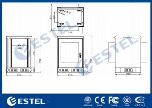 China 27U 19 Inch Rack Outdoor Telecom Cabinet Galvanized Steel Single Wall Heat Insulation wholesale