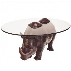 China Animal Rhinoceros Metal Table Sculpture Resin Tea Table Outdoor Yard Sculptures wholesale