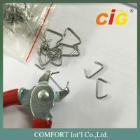 China Iron Car Seat Staples with Galvanization in Silver Color C Type on sale