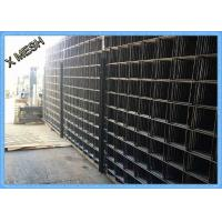 China Coated Welded Wire Mesh Panels A393 Rectangular Hole Concrete Reinforcing wholesale