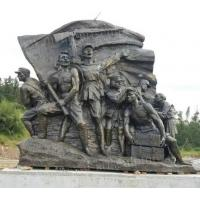 China Bronze Color Wall Relief Sculpture Giant Soldiers Wall Art Decoration wholesale