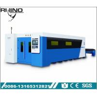 China Full Covered Fiber Laser Cutting Machine Raycus 1000W 2000W Type With Exchange Table wholesale