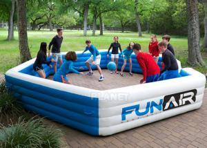 China Funny Portable Interactive Inflatable Gaga Ball Pit / Inflatable Gaga Ball Court For Kids Outdoor Games wholesale