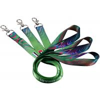 China Single Custom Cotton Lanyards Floating Carabiner Mixed Blue Colors 125mm Length wholesale