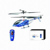 China 3-ch RC helicopter with gyro, measures 21x4.2x10cm, EN71, ASTM-, 6P-, RoHS-, MSDS-, HR4040-certified wholesale